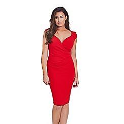 Sistaglam Love Jessica - Red 'Kassey' bodycon dress
