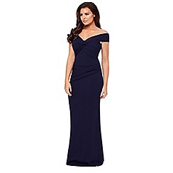 Jessica Wright for Sistaglam - Navy 'Marina' bardot maxi dress