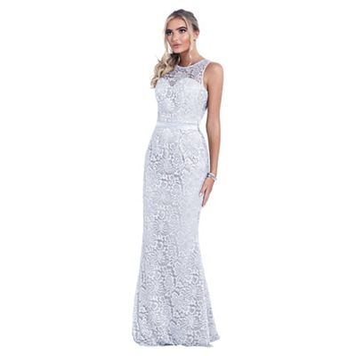 Sistaglam   Silver 'aston' Lace Bridesmaid Dress by Sistaglam