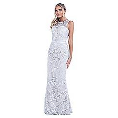Sistaglam - Silver 'Aston' lace bridesmaid dress