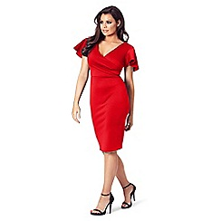 Jessica Wright for Sistaglam - Red 'Tinka' bodycon dress