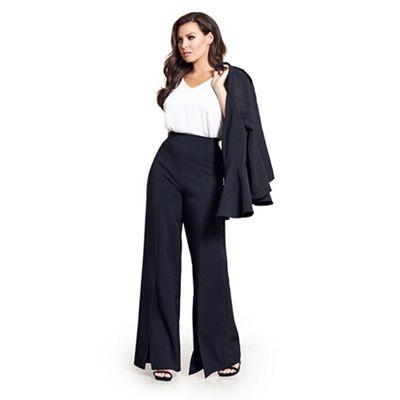 sistaglam-love-jessica---black-tyra-flared-high-waist-trousers by sistaglam-love-jessica