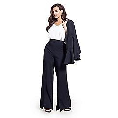 90a77982f11 Sistaglam Love Jessica - Black  Tyra  flared high waist trousers