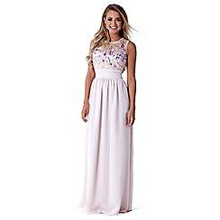 Sistaglam - Nude 'Loretta' embellished maxi dress