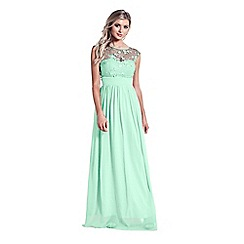 Sistaglam - Mint Green 'Beverley' lace bridesmaid maxi dress