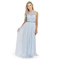 Sistaglam - Blue 'Afia' embellished maxi dress