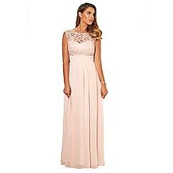 Sistaglam - Pink 'Jamil' lace maxi dress