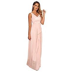 Sistaglam - Blush 'Baliana' v-neck maxi dress