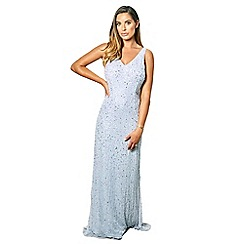 7419e8450db35 Sistaglam - light blue 'Lindiana' all over sequin maxi dress