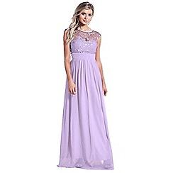 Sistaglam - Lilac/purple 'Beverley' embellished maxi dress