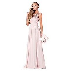 Sistaglam - Petite Rose 'Beverley' lace bridesmaid maxi dress