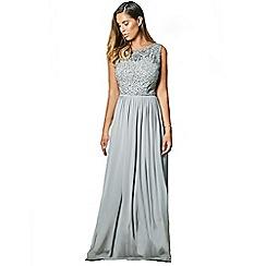 Sistaglam - Grey 'Samie' sequin detail maxi dress