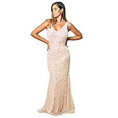 Sistaglam - Pink 'Lindiana' all over sequin maxi dress