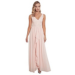 Sistaglam - Blush 'Baliena' v neck maxi dress