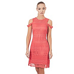 Sistaglam - Red and coral 'Laurien' lace mini dress