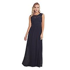 Sistaglam - Navy 'Jamiliene' embellished maxi dress
