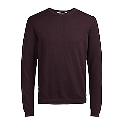 Jack & Jones - Burgundy 'Morten' knit jumper