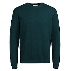 Jack & Jones - Dark teal 'Morten' knitted jumper