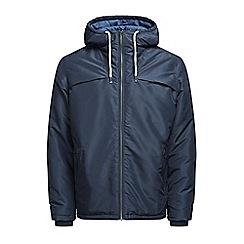 Jack & Jones - Navy 'Calm canyon' puffer jacket