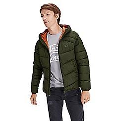 Jack & Jones - Dark green 'Landing' puffer jacket