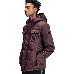 Jack & Jones - Maroon 'Will' puffer jacket