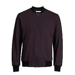 Jack & Jones - Burgundy 'Robin' bomber jacket