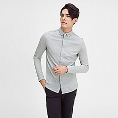 Jack & Jones - Grey 'Union' jersey shirt