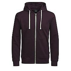 Jack & Jones - Wine 'Holmen' sweat hoodie