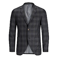 Jack & Jones - Dark grey check 'Note' blazer
