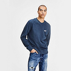 Jack & Jones - Blue 'Nepped' crew neck sweatshirt
