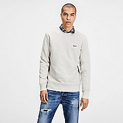 Jack & Jones - Light grey 'Nepped' crew neck sweatshirt