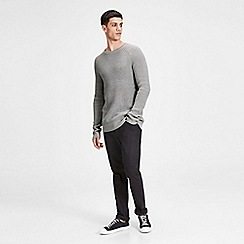 Jack & Jones - Grey 'Pannel' knit jumper