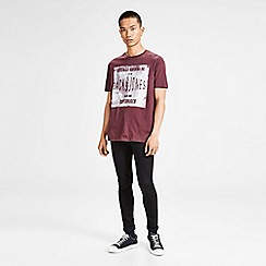 Jack & Jones - Burgundy 'Stood' t-shirt