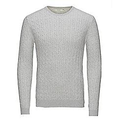 Jack & Jones - Light grey 'Sam' crew neck knit