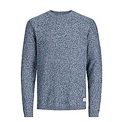Jack & Jones - Mid blue 'Uber' knitted jumper
