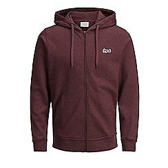 Jack & Jones - Maroon 'Light sweat zip' hoodie