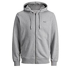 Jack & Jones - Grey 'Light sweat zip' hoodie