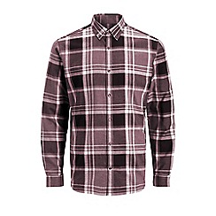 Jack & Jones - Burgundy 'X-mas' check shirt