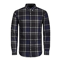 Jack & Jones - Navy 'X-mas' check shirt