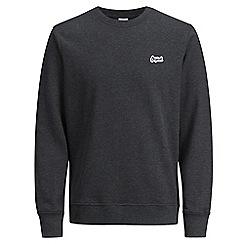 Jack & Jones - Dark grey 'Light' crew neck sweatshirt