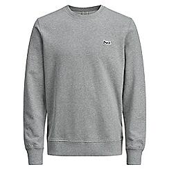 Jack & Jones - Grey 'Light' crew neck sweatshirt