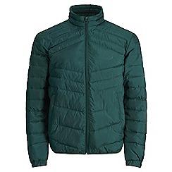 Jack & Jones - Dark green 'Landing' stand collar jacket