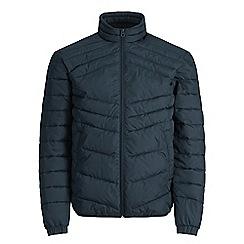 Jack & Jones - Navy 'Landing' stand collar jacket
