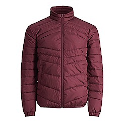 Jack & Jones - Maroon'Landing' stand collar jacket