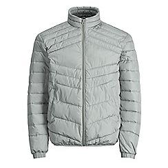 Jack & Jones - Light grey 'Landing' stand collar jacket