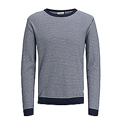 Jack & Jones - Navy 'Nash' striped knitted jumper