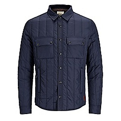 Jack & Jones - Navy 'Connect' quilted jacket