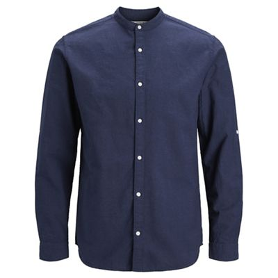 Jack & Jones   Navy 'summer Mao' Shirt by Jack & Jones