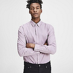 Jack & Jones - Dark mauve 'Russel' long sleeve shirt