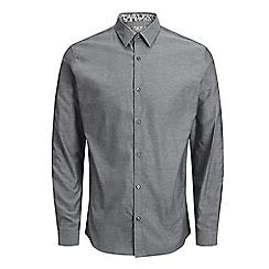 Jack & Jones - Grey 'Russel' long sleeve shirt